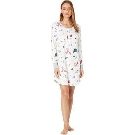ケイト スペード Kate Spade New York レディース パジャマ・トップのみ インナー・下着【Brushed Jersey Long Sleeve Sleepshirt】Bundled Up
