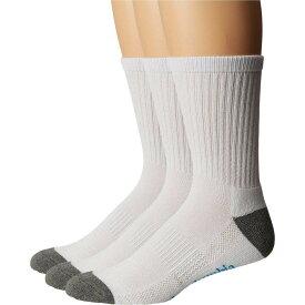 コロンビア Columbia メンズ ソックス 3点セット インナー・下着【Crew Athletic Socks 3-Pack】White