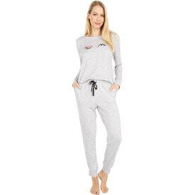 ケイト スペード Kate Spade New York レディース パジャマ・上下セット インナー・下着【Brushed Sweater Knit Pajama Set】Printed Heather Grey