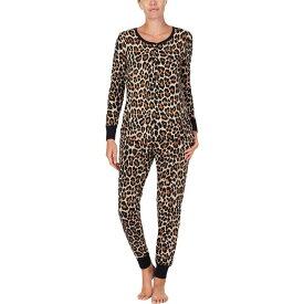 ケイト スペード Kate Spade New York レディース パジャマ・上下セット インナー・下着【Brushed Jersey Jogger Long Pajama Set】Leopard