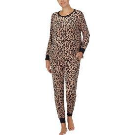 ケイト スペード Kate Spade New York レディース パジャマ・上下セット インナー・下着【Stretch Velour Jogger Pajama Set】Painted Leopard