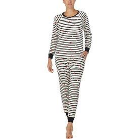 ケイト スペード Kate Spade New York レディース パジャマ・上下セット インナー・下着【Stretch Velour Jogger Pajama Set】Bakery Dot Stripe