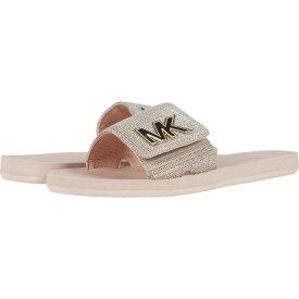 マイケル コース MICHAEL Michael Kors レディース サンダル・ミュール シューズ・靴【MK Slide】White/Gold