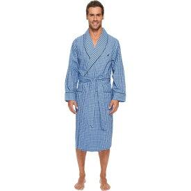 ノーティカ Nautica メンズ ガウン・バスローブ インナー・下着【Plaid Lounge Robe】Light French Blue