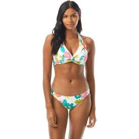 ケイト スペード Kate Spade New York レディース トップのみ 水着・ビーチウェア【Tropical Floral Knotted Halter Bikini Top w/ Removable Soft Cups】White