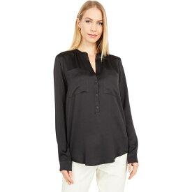 マイケル コース MICHAEL Michael Kors レディース トップス 【Satin Pocket Shirt】Black