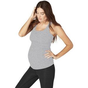 ビヨンドヨガ Beyond Yoga レディース ヨガ・ピラティス マタニティウェア キャミソール トップス【Spacedye Maternity Racerback Cami】Silver Mist