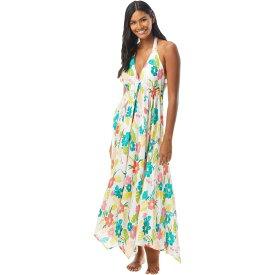 ケイト スペード Kate Spade New York レディース ビーチウェア ワンピース・ドレス 水着・ビーチウェア【Tropical Floral Halter Maxi Dress Cover-Up】White