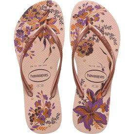 ハワイアナス Havaianas レディース ビーチサンダル シューズ・靴【Slim Organic Flip Flops】Ballet Rose/Pink Retro Metallic
