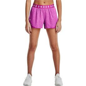 アンダーアーマー Under Armour レディース ショートパンツ ボトムス・パンツ【Play Up Shorts 3.0 Twist】Meteor Pink/White