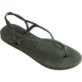 ハワイアナス Havaianas レディース ビーチサンダル シューズ・靴【Luna Premium Flip-Flop】Green Olive
