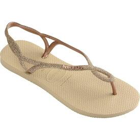 ハワイアナス Havaianas レディース ビーチサンダル シューズ・靴【Luna Premium Flip-Flop】Sand Grey