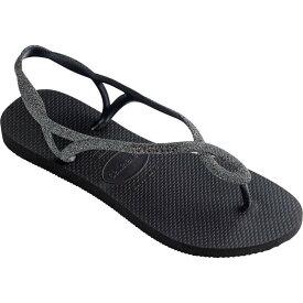 ハワイアナス Havaianas レディース ビーチサンダル シューズ・靴【Luna Premium Flip-Flop】Black/Dark Grey
