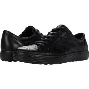 エコー ECCO メンズ スニーカー シューズ・靴【Soft 7 Perforated Luxe Sneaker】Black