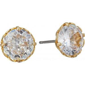 ケイト スペード Kate Spade New York レディース イヤリング・ピアス ジュエリー・アクセサリー【That Sparkle Round Earrings】Clear/Gold