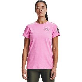 アンダーアーマー Under Armour レディース Tシャツ トップス【Freedom Banner T-Shirt】Stellar Pink/Marine OD Green