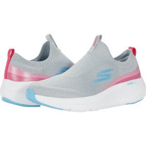 スケッチャーズ SKECHERS レディース ランニング・ウォーキング スリッポン シューズ・靴【Go Run Elevate Knit Slip-On】Gray/Pink