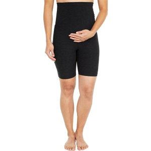 ビヨンドヨガ Beyond Yoga レディース 自転車 マタニティウェア ショートパンツ ボトムス・パンツ【Maternity Spacedye Empire Waisted Biker Shorts】Darkest Night