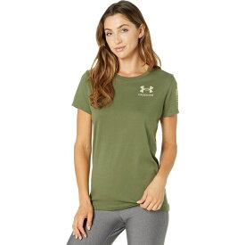 アンダーアーマー Under Armour レディース Tシャツ トップス【New Freedom Flag T-Shirt】Marine OD Green/Desert Sand