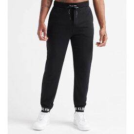 カルバンクライン Calvin Klein メンズ スウェット・ジャージ ボトムス・パンツ【logo cuff pants】CK Black