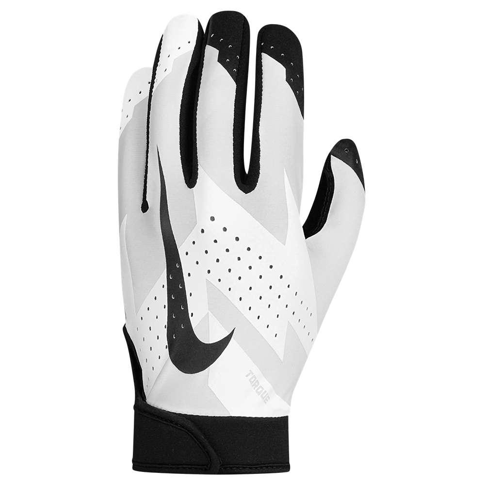 ナイキ メンズ アメリカンフットボール グローブ【Nike Torque 2.0 Football Gloves】White/Black