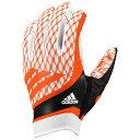 アディダス メンズ アメリカンフットボール グローブ【adidas adiFast Strapless Receiver Gloves】White/Orange
