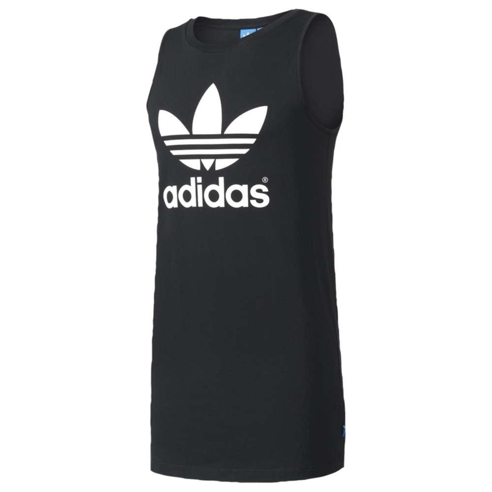 アディダス レディース ワンピース・ドレス ワンピース【adidas Originals Trefoil Tank Dress】Black/White
