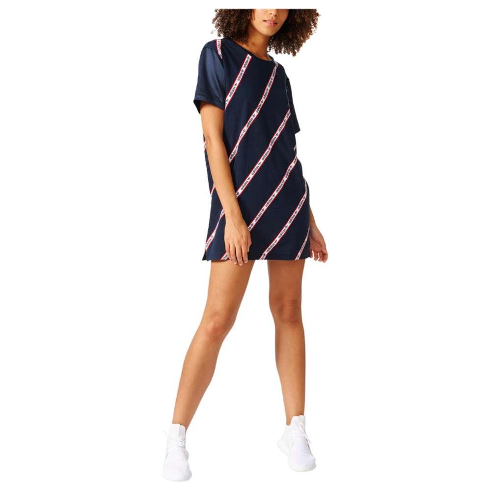 アディダス レディース ワンピース・ドレス ワンピース【adidas Originals London Striped T-Shirt Dress】Legend Ink
