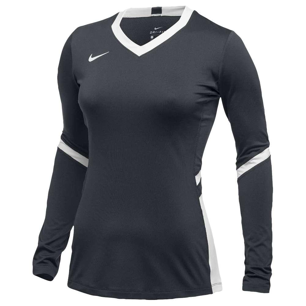 ナイキ レディース バレーボール トップス【Nike Team Hyperace Long Sleeve Game Jersey】Anthracite/White