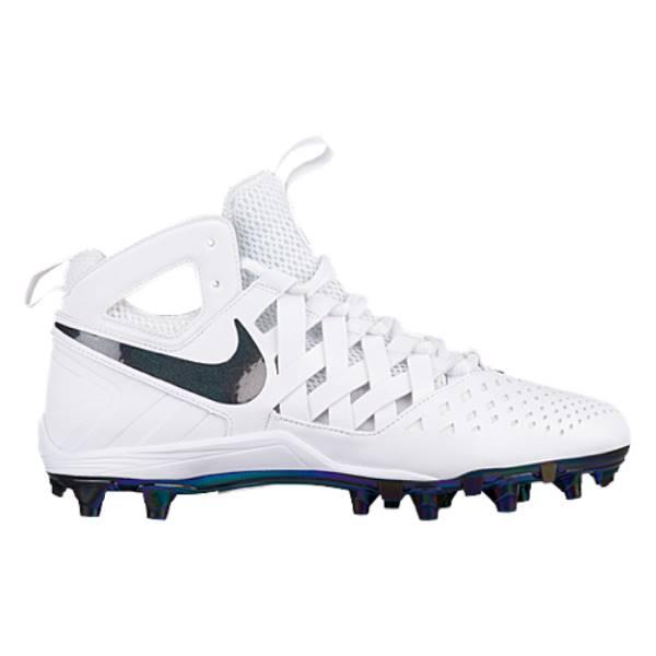 ナイキ メンズ ラクロス シューズ・靴【Nike Huarache V Lacrosse Elite】Prism Flash White/Black/White