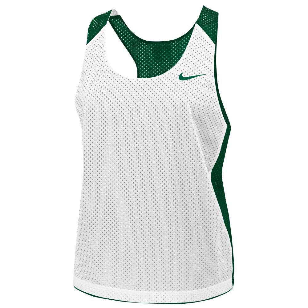 ナイキ レディース ラクロス トップス【Nike Team Reversible Mesh Tank】Team Dark Green/White