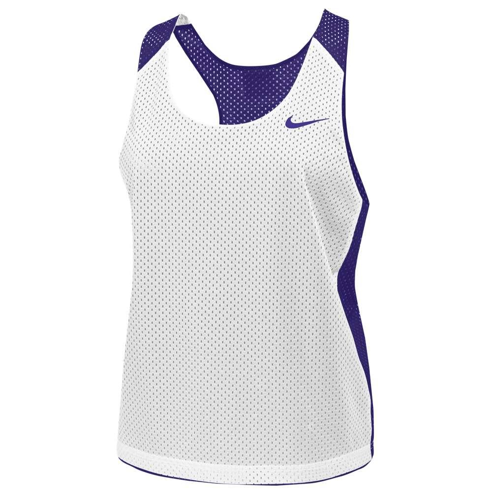 ナイキ レディース ラクロス トップス【Nike Team Reversible Mesh Tank】Team Court Purple/White
