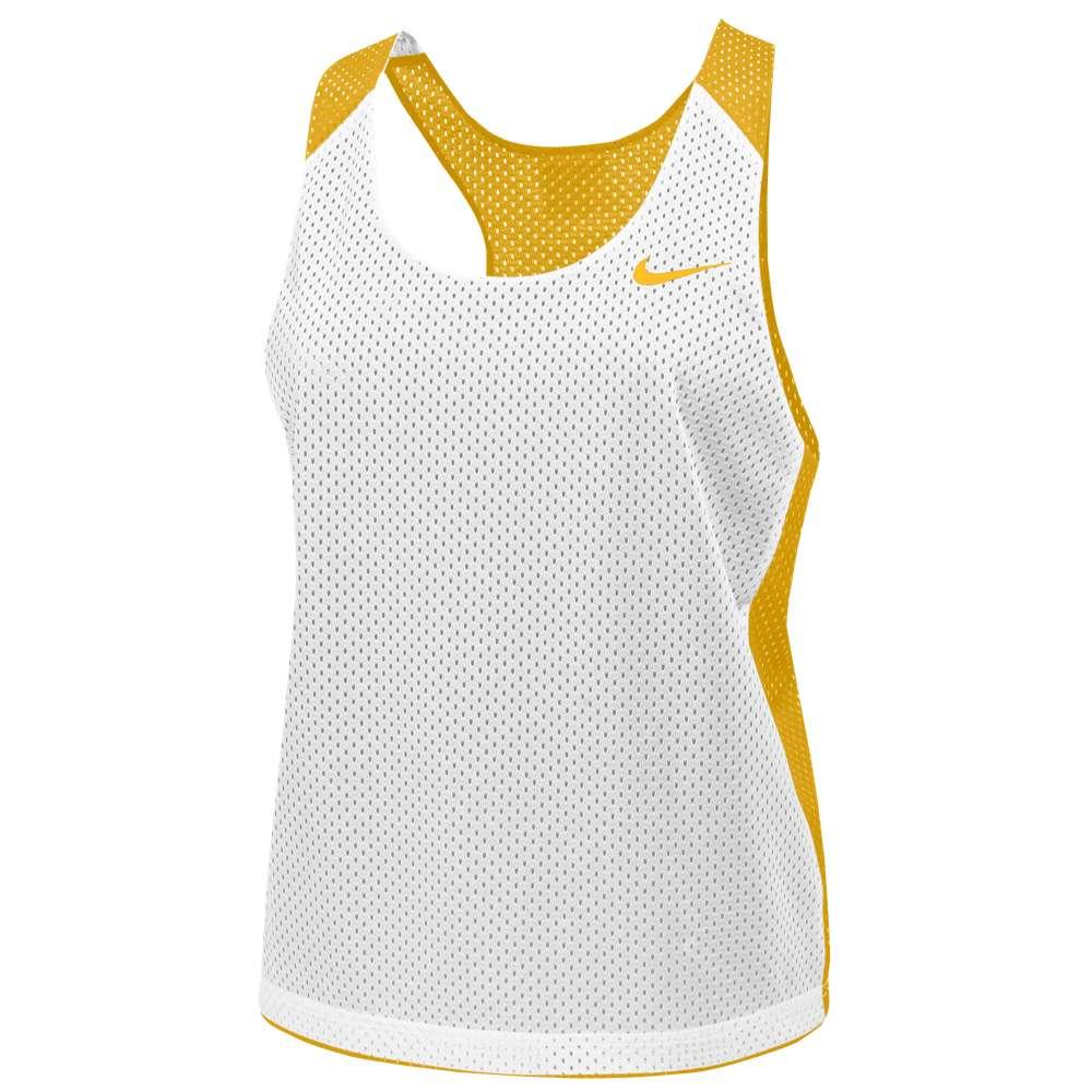 ナイキ レディース ラクロス トップス【Nike Team Reversible Mesh Tank】Team Bright Gold/White