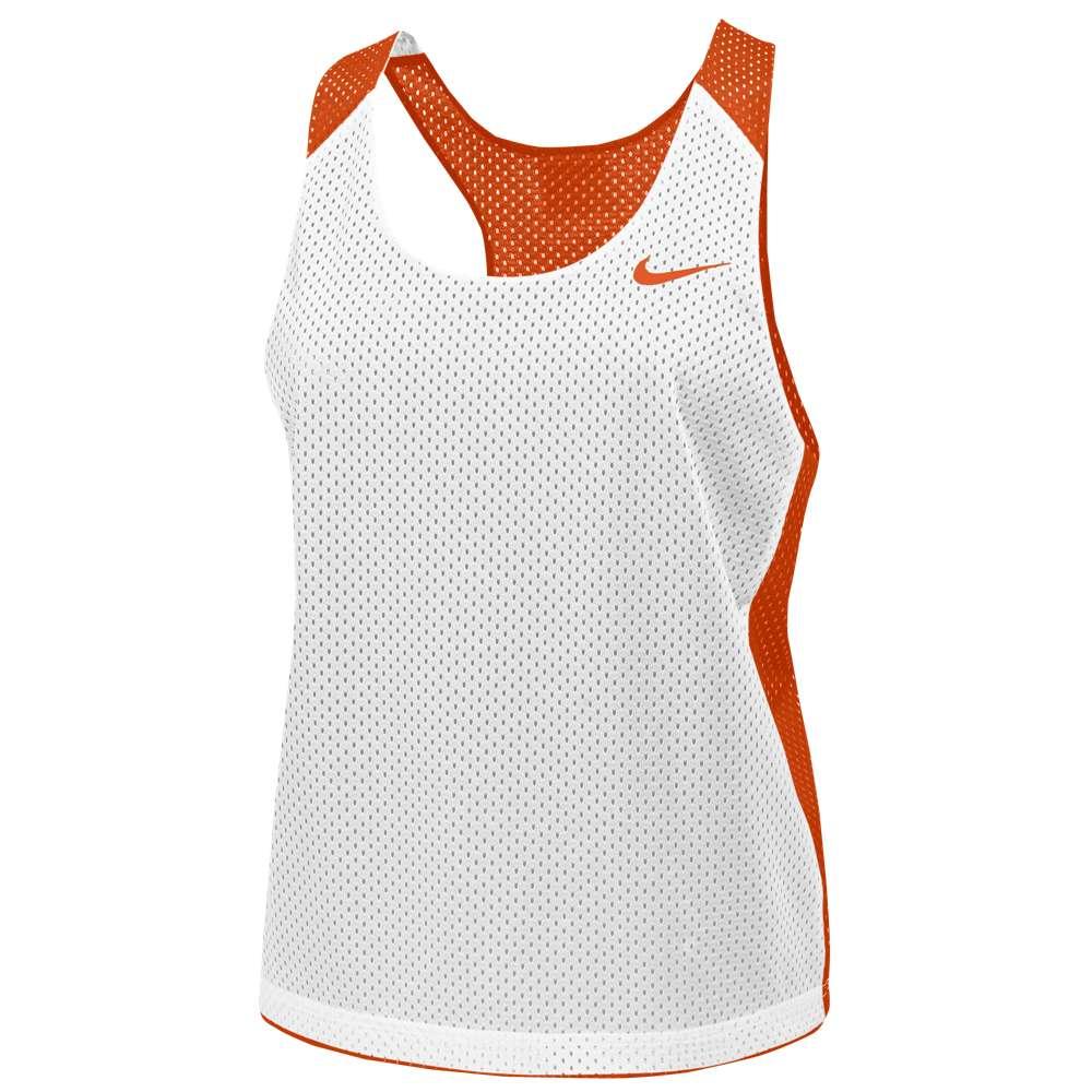 ナイキ レディース ラクロス トップス【Nike Team Reversible Mesh Tank】Team Orange/White