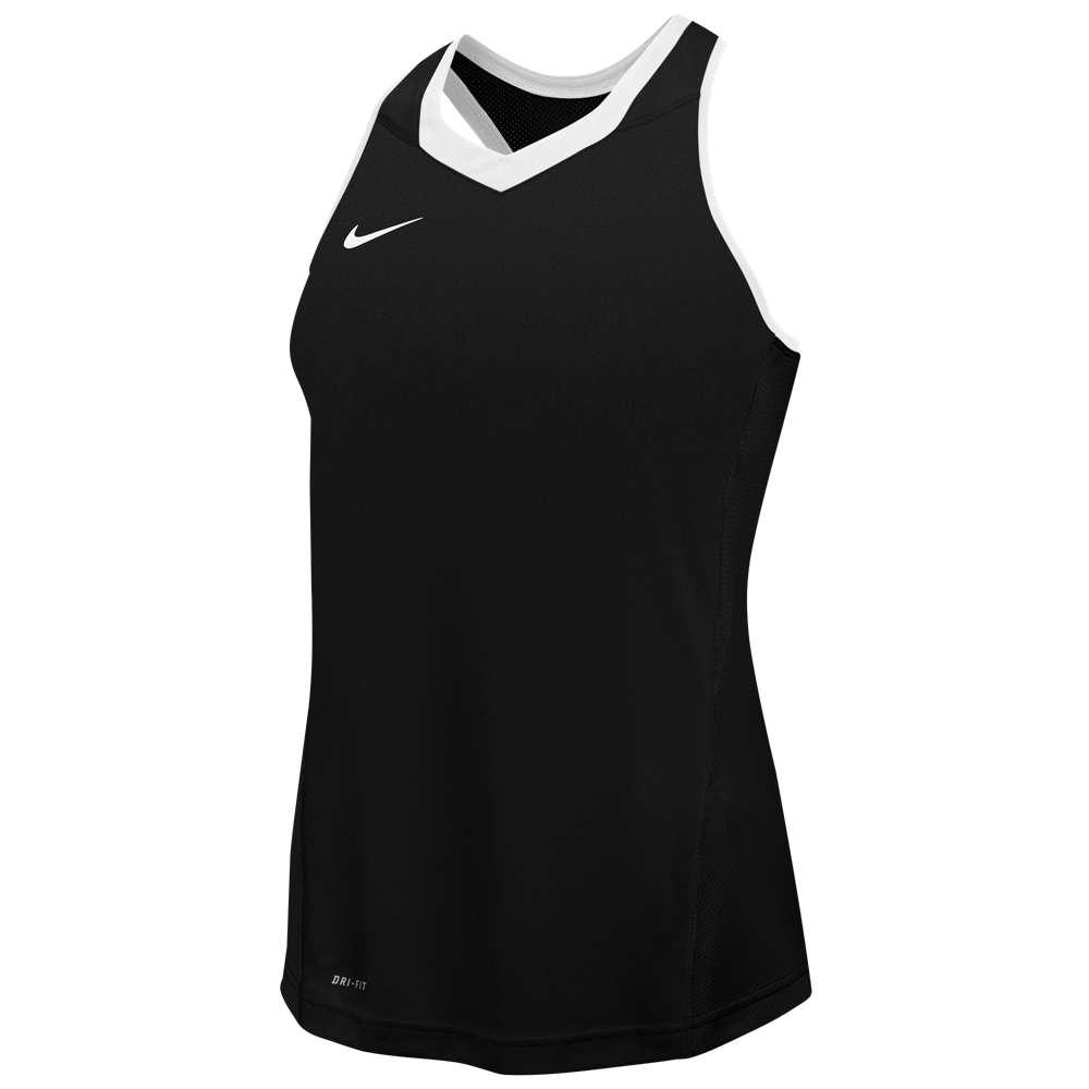 ナイキ レディース ラクロス トップス【Nike Team Cutback Racerback Jersey】Black/White