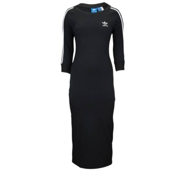 アディダス レディース ワンピース・ドレス ワンピース【adidas Originals Three Stripes Dress】Black/White