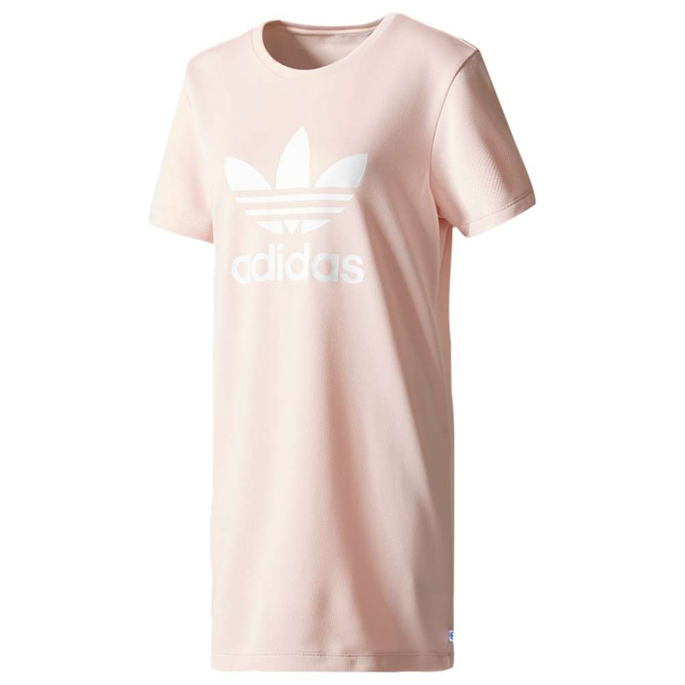 アディダス レディース ワンピース・ドレス ワンピース【adidas Originals Trefoil T-Shirt Dress】Icy Pink