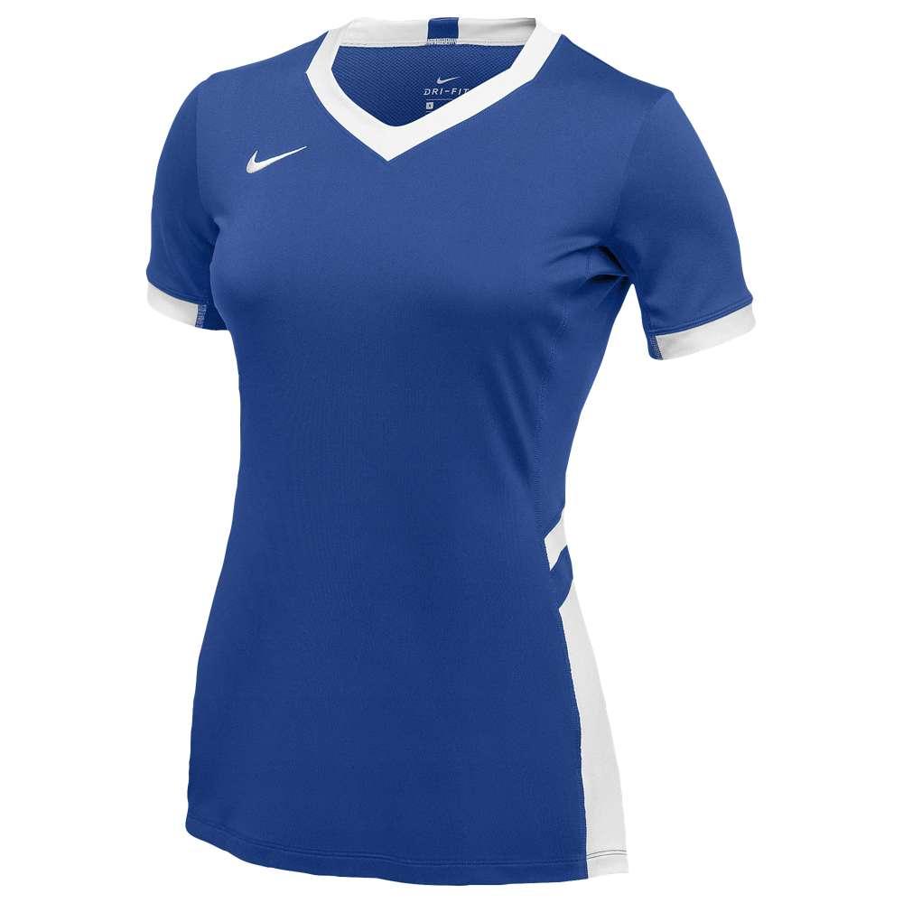 ナイキ レディース バレーボール トップス【Nike Team Hyperace Short Sleeve Game Jersey】Royal/White