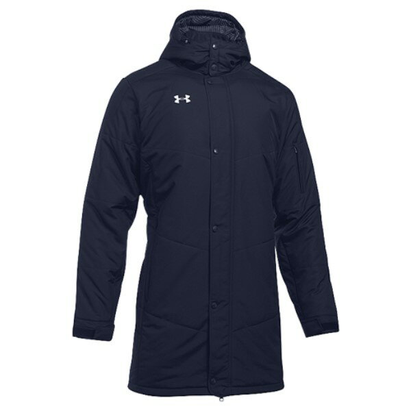 アンダーアーマー メンズ アウター ジャージ【Under Armour Team Infrared Elevate Full-Zip Jacket】Midnight Navy/White