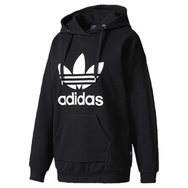 アディダス レディース トップス パーカー【adidas Originals Trefoil Hoodie】Black/White