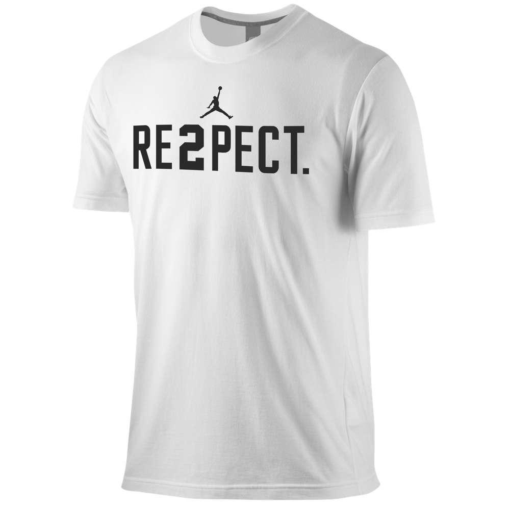 ナイキ ジョーダン メンズ トップス Tシャツ【Jordan Jeter Re2pect T-Shirt】White/Black