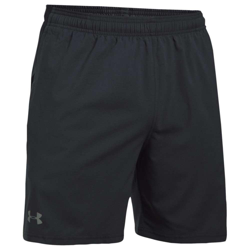 """アンダーアーマー メンズ ランニング・ウォーキング ボトムス・パンツ【Under Armour 7"""" Launch Stretch Woven Run Shorts】Black/Quirky Lime/Reflective"""