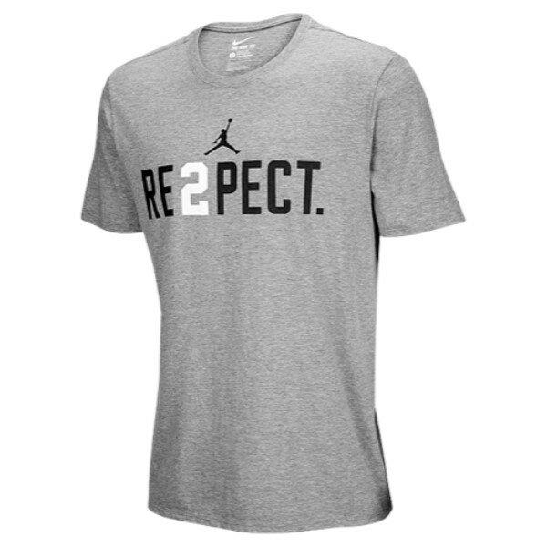 ナイキ ジョーダン メンズ トップス Tシャツ【Jordan Jeter Re2pect T-Shirt】Wolf Grey/White/Black