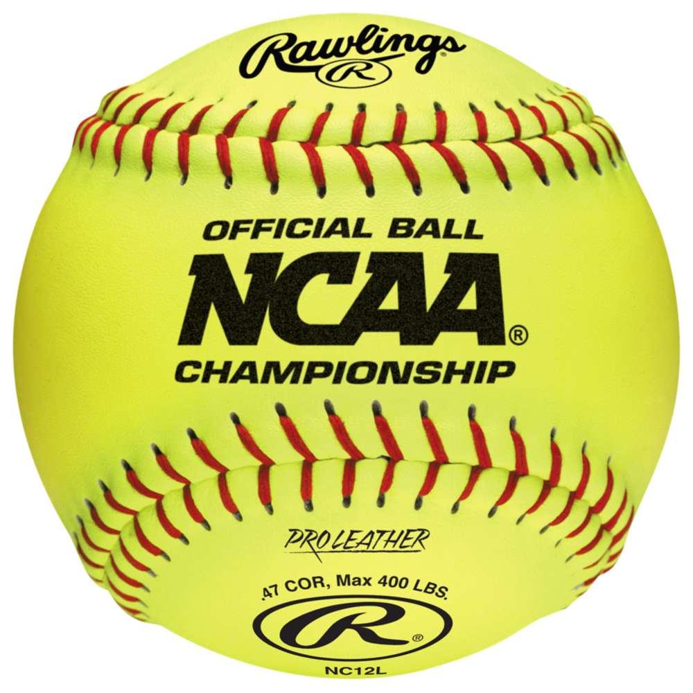 ローリングス レディース 野球 ボール【Rawlings NC12L Official NCAA Fastpitch Softballs】