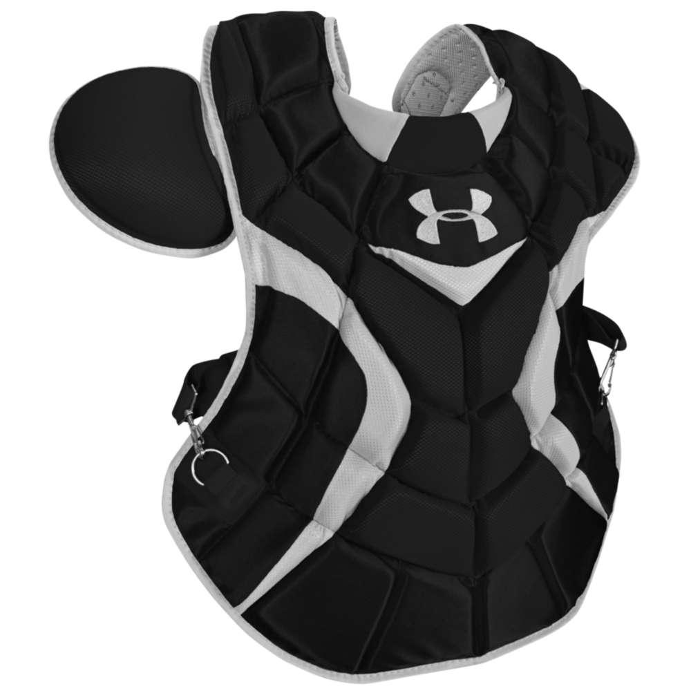 アンダーアーマー メンズ 野球 プロテクター【Under Armour Pro Chest Protector】Black/Silver