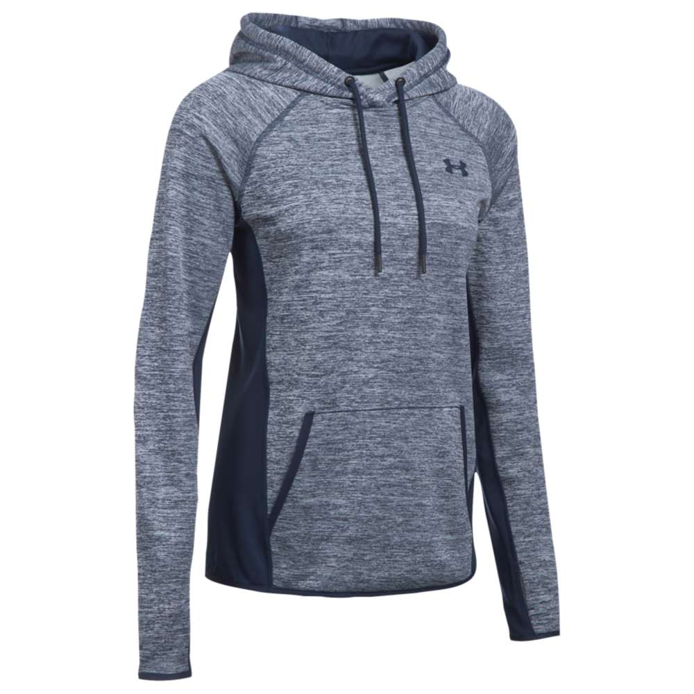 アンダーアーマー レディース トップス パーカー【Under Armour Armour Fleece Icon Hoodie】Midnight Navy