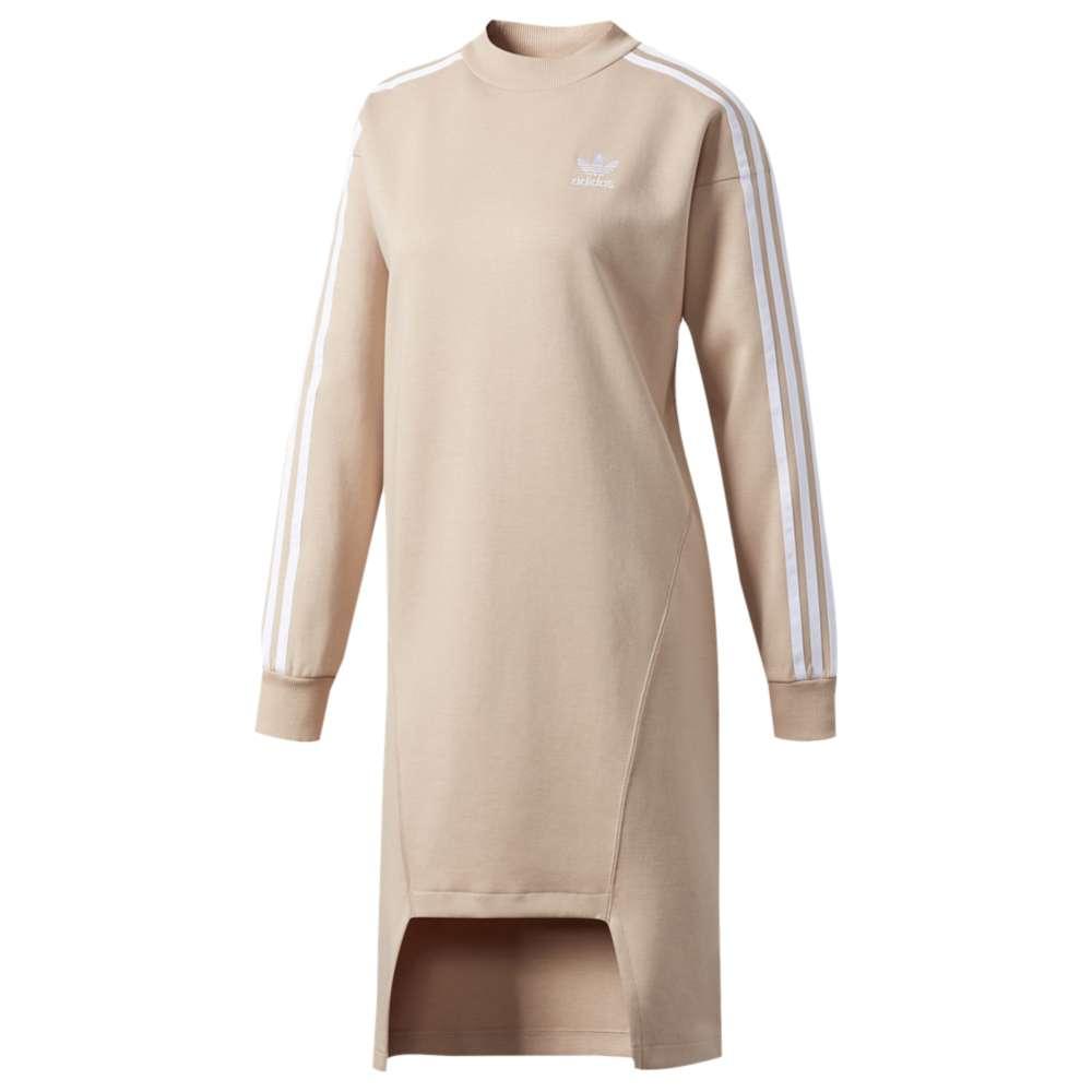 アディダス レディース ワンピース・ドレス ワンピース【adidas Originals Info Poster Crew Dress】Dust Pearl