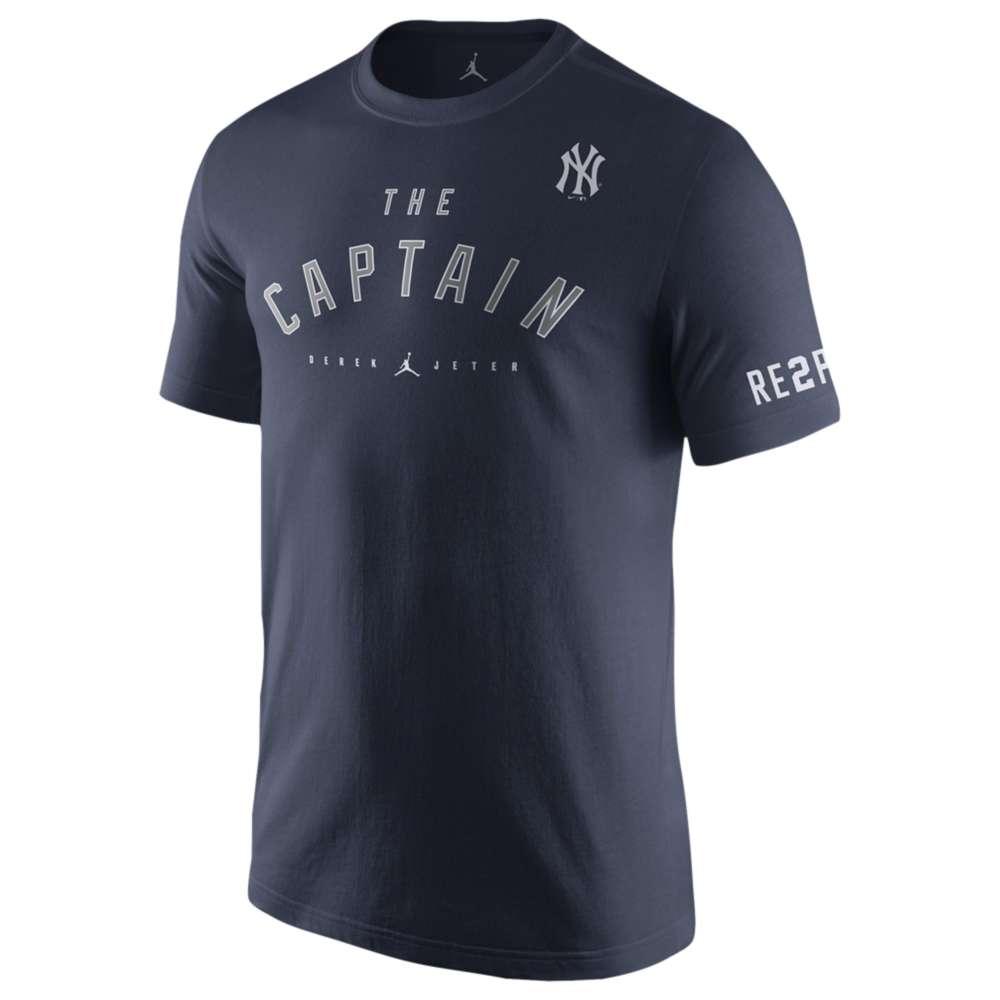 ナイキ ジョーダン メンズ トップス Tシャツ【Jordan MLB Jeter Retirement T-Shirt】Navy