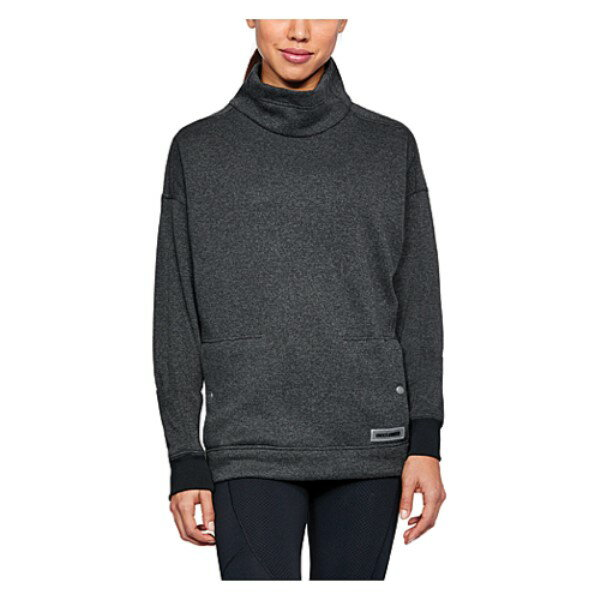 アンダーアーマー レディース トップス スウェット・トレーナー【Under Armour ColdGear Infrared Sweater Fleece Funnel】Black Light Heather/Black/Black