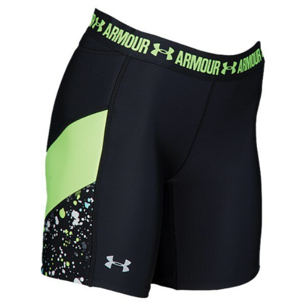 アンダーアーマー レディース 野球 ボトムス・パンツ【Under Armour Strike Zone Print Slider】Black/Quirky Lime/Overcast Grey